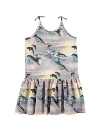 Dolphin Sunset Dress(8-12 Years)