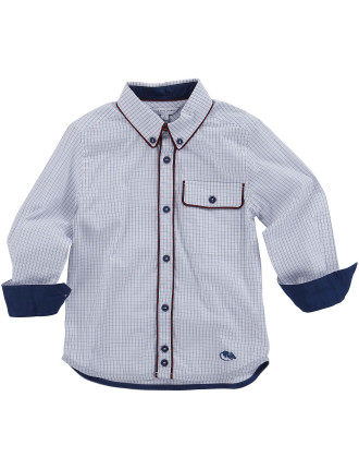 Checked Cotton Ls Shirt
