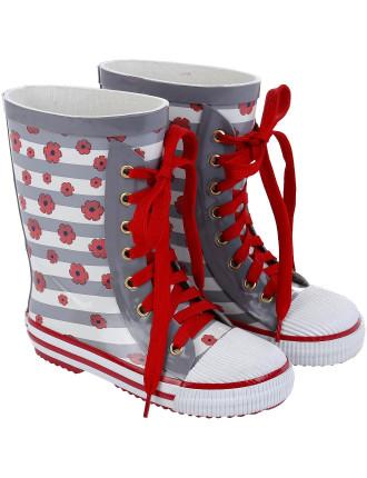Rain Boots W/Laces