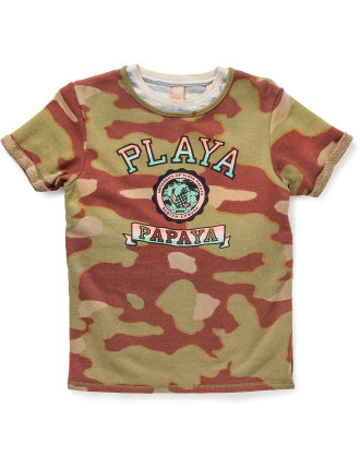 Shortsleeve Allover Printed Sweat With Inner Tee Age 8-14