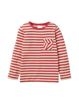 Washed Stripe Top
