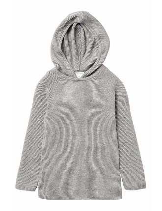 Rib Knit Hoodie
