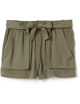 Kids Tie Front Short
