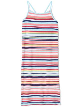 Stripe Slip Dress