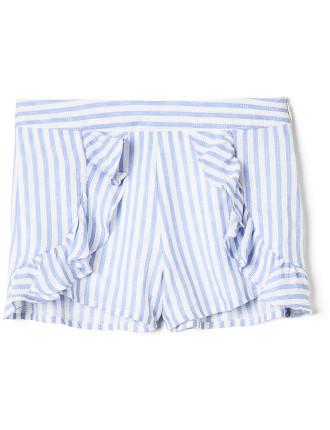 Stripe Frill Short
