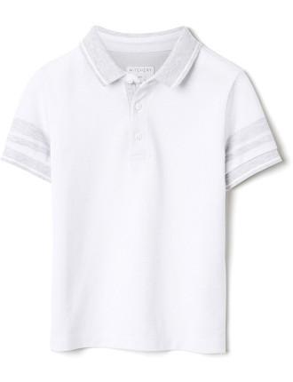 Stripe Sleeve Polo Shirt
