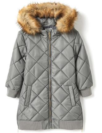 Diamond Quilted Coat