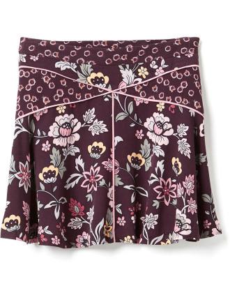 Splice Print Skirt
