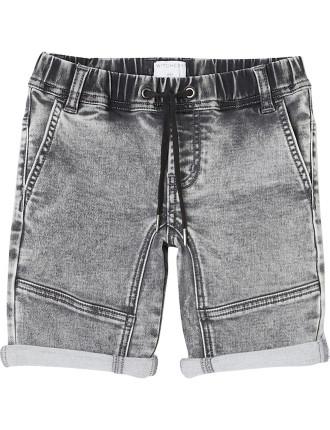 Kids Grey Slouch Short