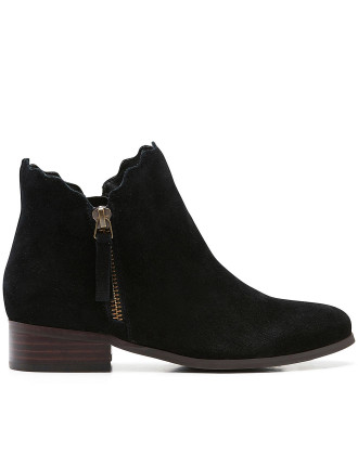 Kids Scalloped Ankle Boot