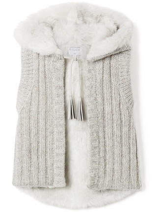 Kids Knit Fur Vest