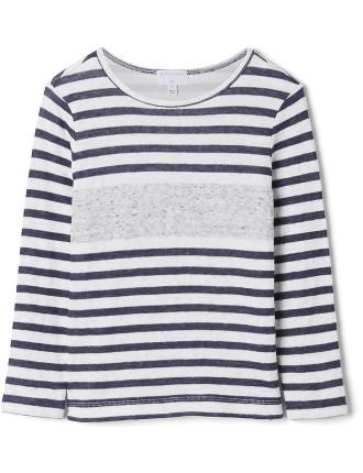 Kids Longsleeve Knit Face T-Shirt