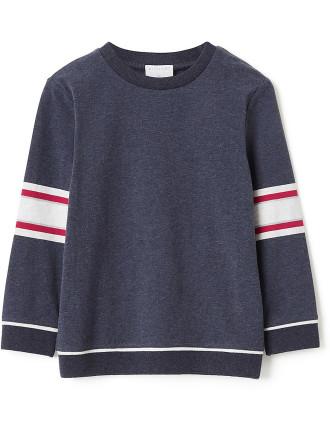 Kids Long Sleeve Stripe Sleeve Top