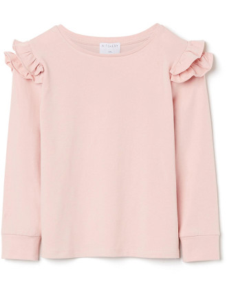 Kids Frill Shoulder Top