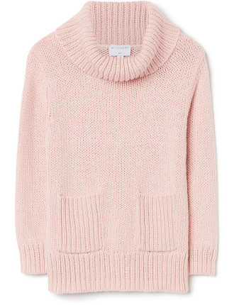 Kids Pocket Crop Knit