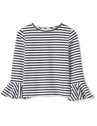 Kids Stripe Frill Sleeve