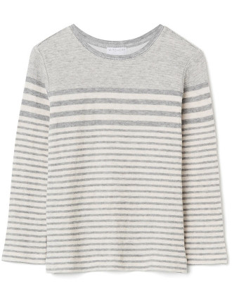 Kids Fine Stripe Longsleeve Top