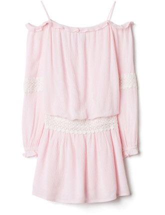 Kids Lace Tier Dress