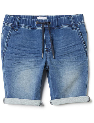 Boys Pull On Denim Short