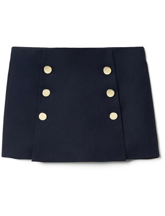 Kids Button Skort