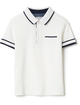 Kids Stripe Collar Polo