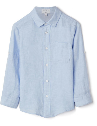 Boys Long Sleeve Linen Shirt