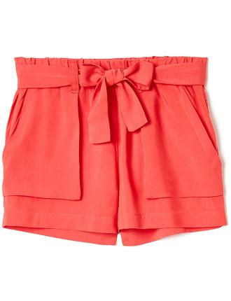 Girls Tie Front Short