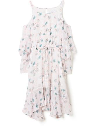 Girls Print Handkerchief Hem Dress