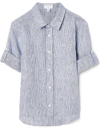 Boys Stripe Linen Shirt