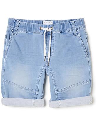 Boys Denim Pull On Short