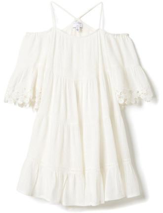 Girls Tiered Halter Dress