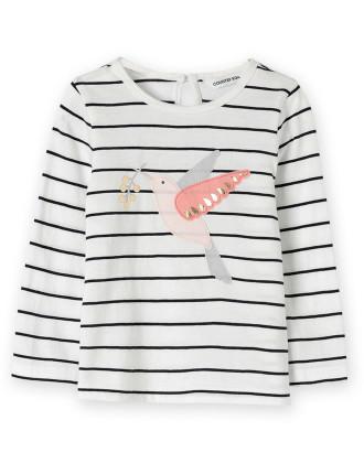 Bird Applique Long Sleeve T-Shirt 0-24 months
