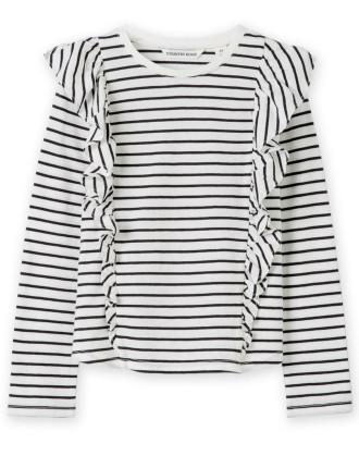 Stripe Ruffle T-Shirt 2-12 years