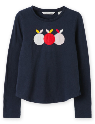 Apples Applique T-Shirt 2-12 years