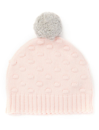 Bobble Knit Beanie 2-12 years