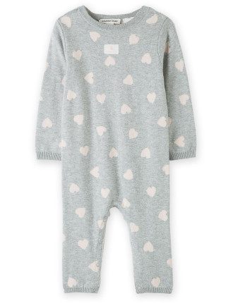 Heart Knit Jumpsuit 0-24 months