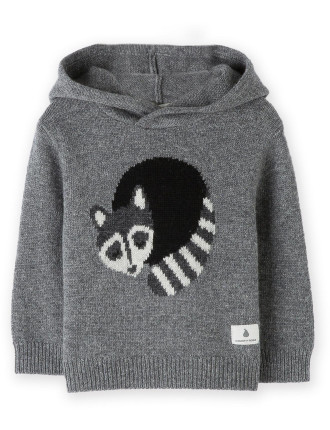 Raccoon Knit Intarsia 0-24 months