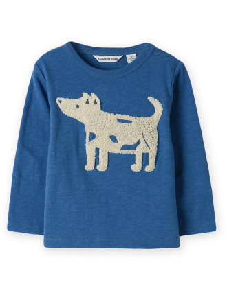 Embroidered Dog T-Shirt 0-24 months