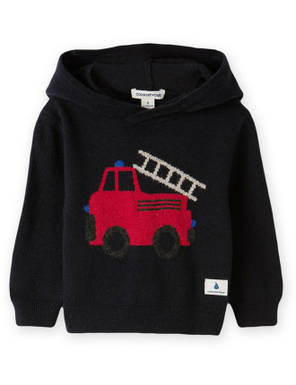 Fire Engine Hoody 0-24 months