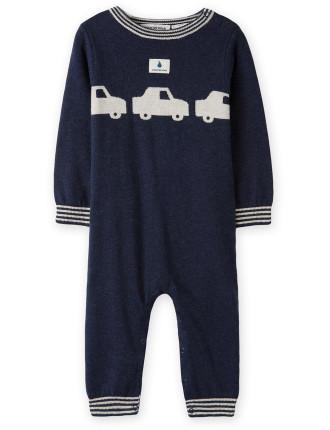 Car Knit Jumpsuit 0-24 months