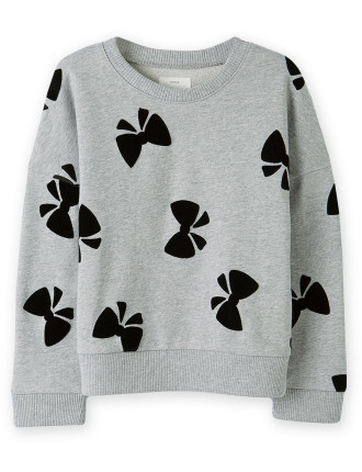 Bow Sweat Top 2-12 years
