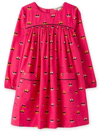 Geometric Print Dress 2-12 years