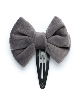 Velour Bow Clips