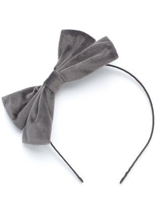 Velour Bow Headband