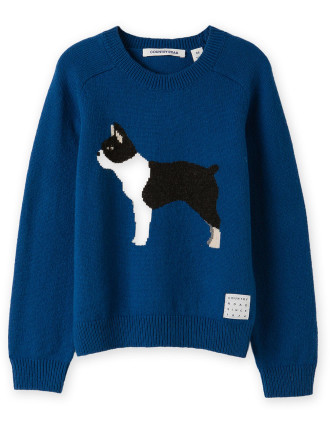 Dog Knit Intarsia 2-12 years