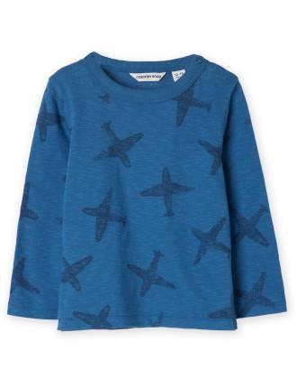Stamp Plane T-Shirt 0-24 months