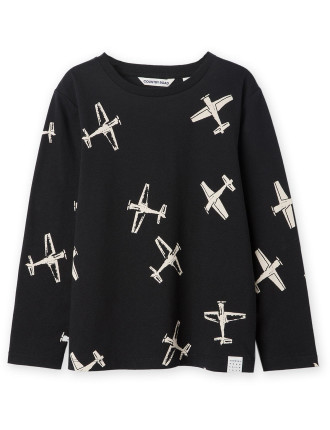 Scatter Plane T-Shirt 2-12 years