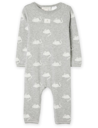 Mouse Knit Jumpsuit 0-18 months