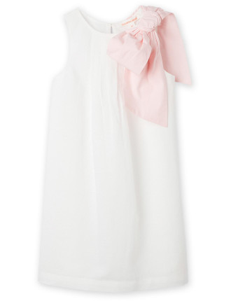 Bow Shoulder Dress 2-12 years