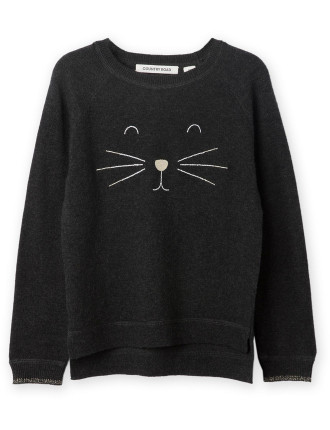 Cat Face Knit 2-12 years